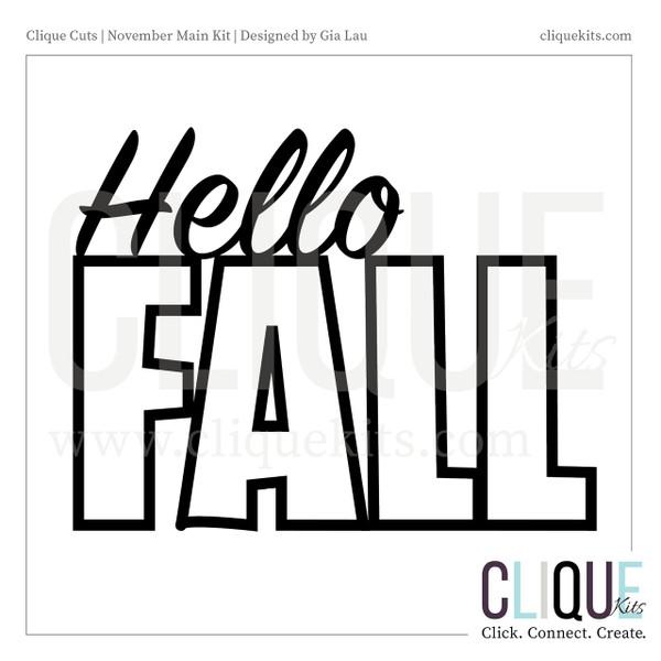 Hello Fall   Digital Cut File