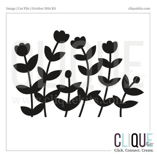 Flower Field  | Digital Die Cut