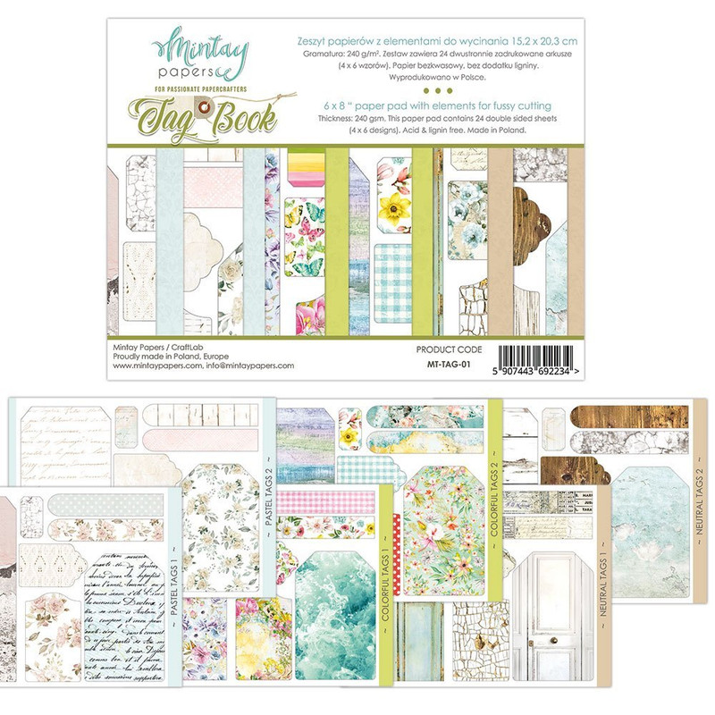 Tags Book | 6x8 Papers to Fussy Cut | Mintay Papers