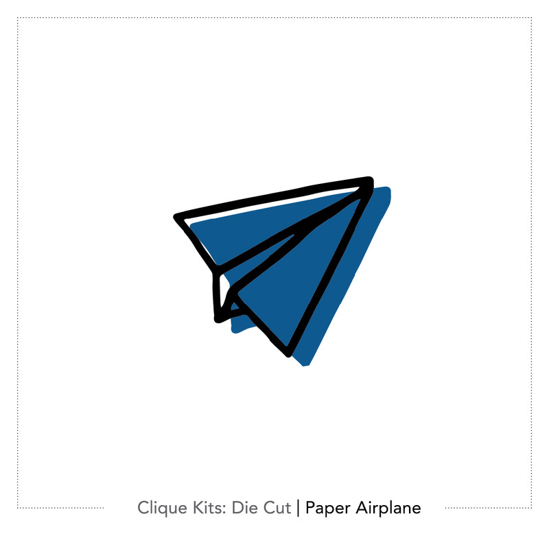 Paper Airplane - Digital Die Cuts