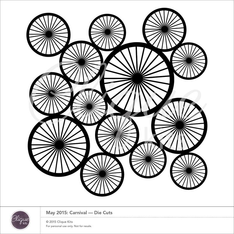Spoke Wheel    Digital Die Cut