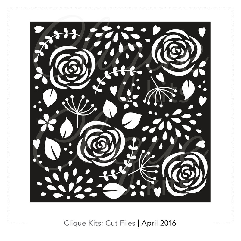 Floral Confetti    Digital Cut File