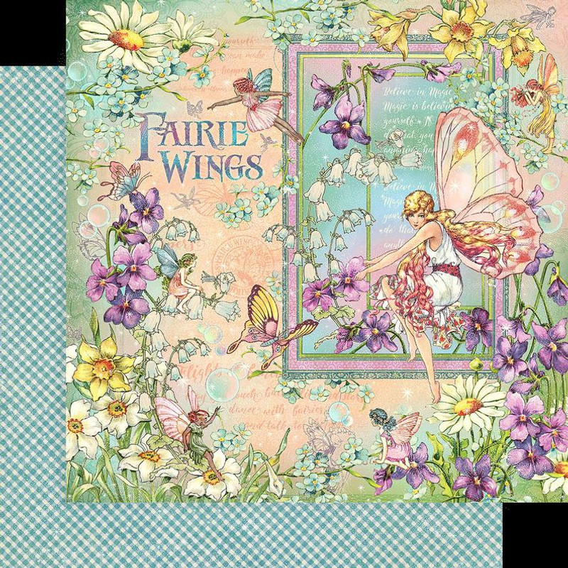 Fairie Wings 8x8 Paper Pad & Chipboard Bundle | Graphic 45