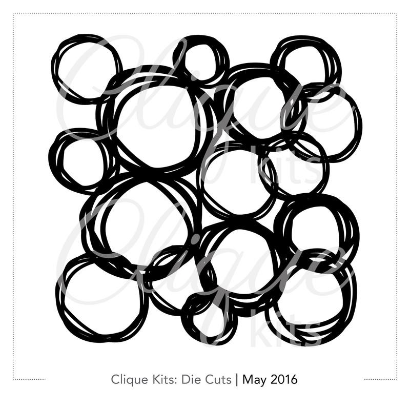 Scribble Circles  | Digital Die Cut