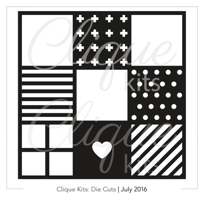 Many Squares  | Digital Die Cut