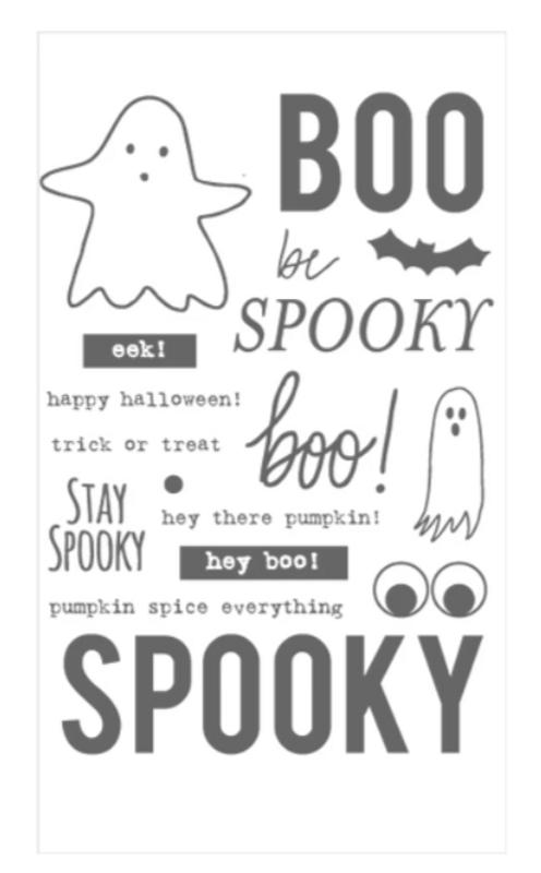 Add-on Kit | Halloween Word Party Stamp & Die Set | Flora & Fauna