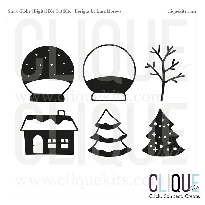 Snow Globe  | Digital Die Cut