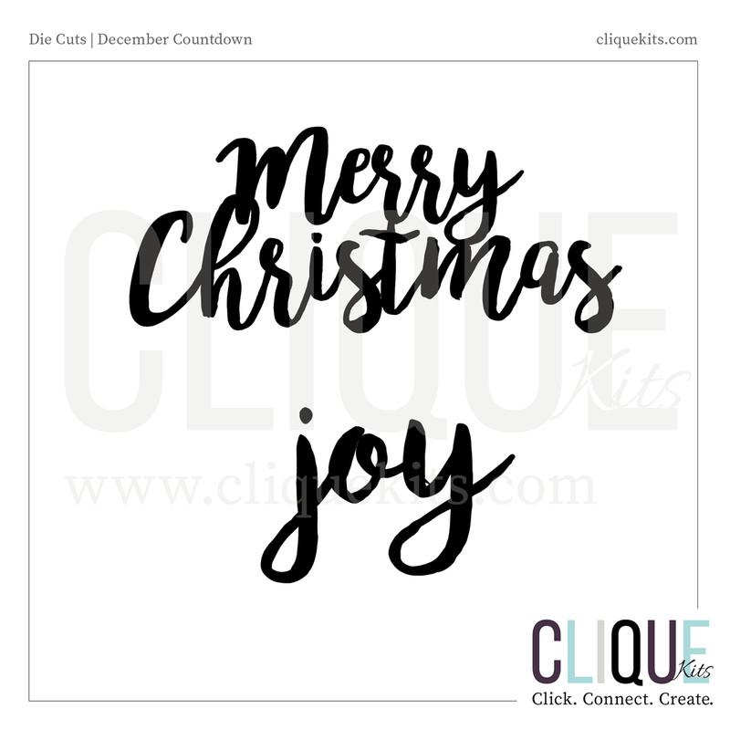 Holiday Phrases   Digital Die Cut