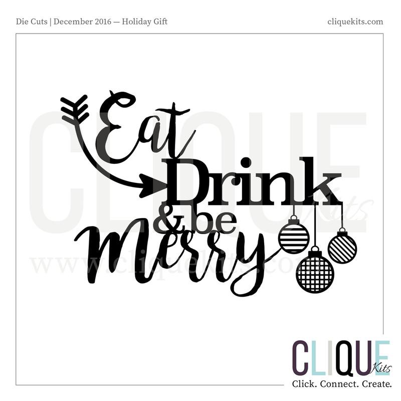 Eat Drink & Be Merry | Digital Die Cut