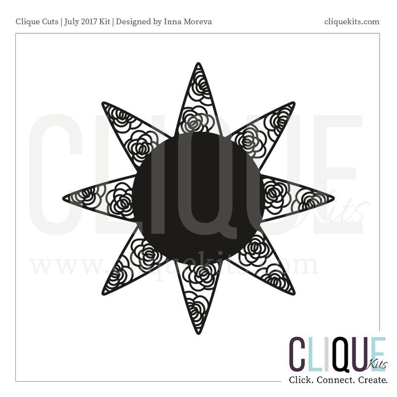 Decorative Sun  | Digital Die Cut