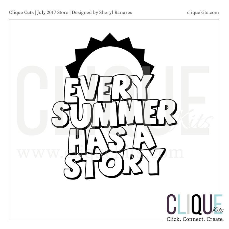 Summer Story    Digital Die Cut