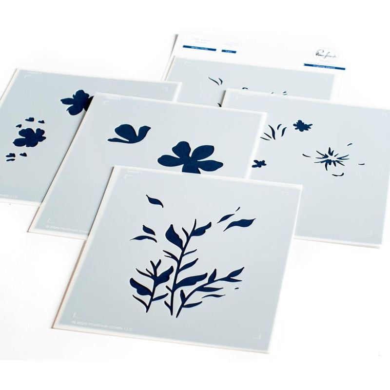 Explore & Learn Kit | Spring Cards with Layering Stencils: Garden Florals| Pinkfresh Studio