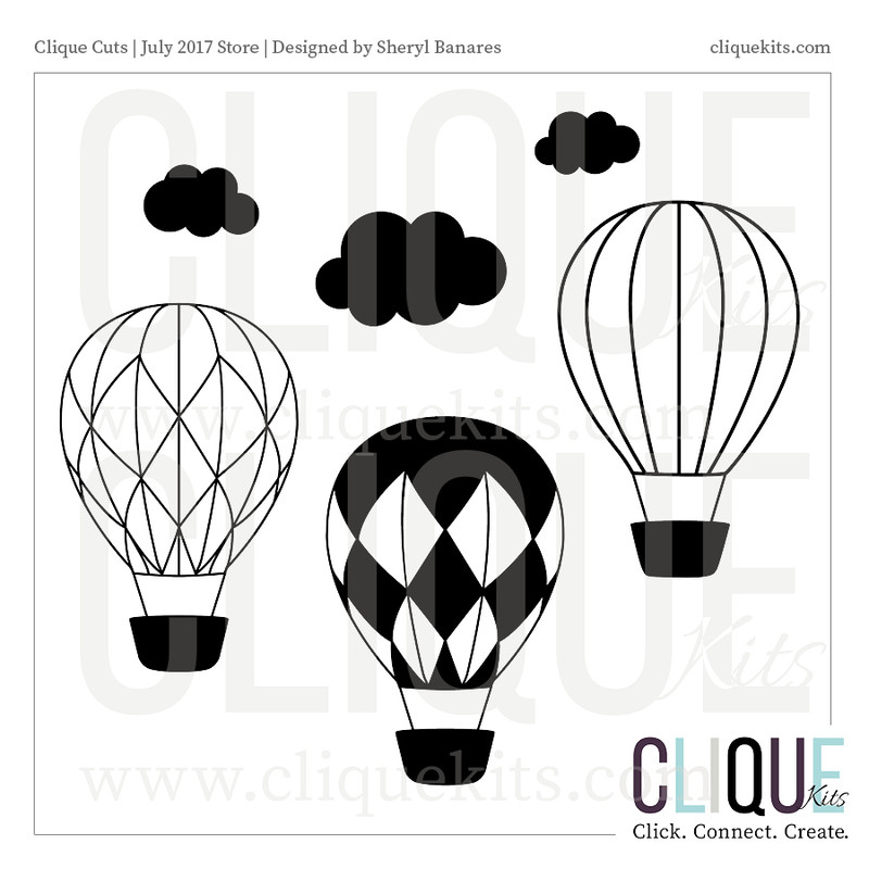 Hot Air Balloon  | Digital Die Cut