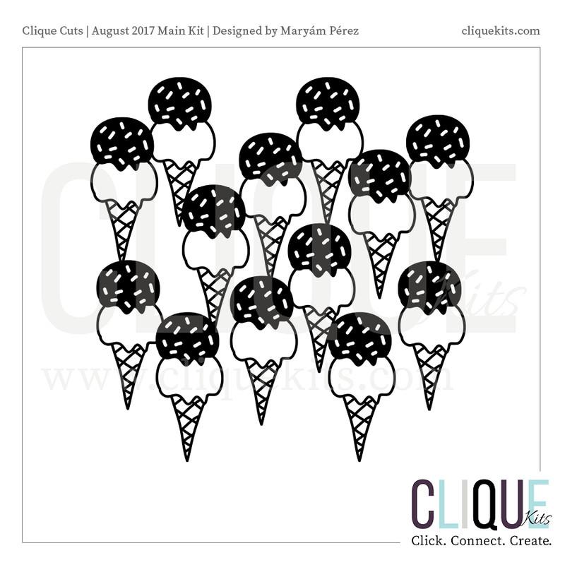 So Much Ice Cream - August 2017   Digital Die Cut
