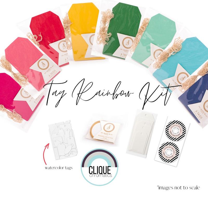 Clique Chromatics | Tag Rainbow Kit | American Crafts