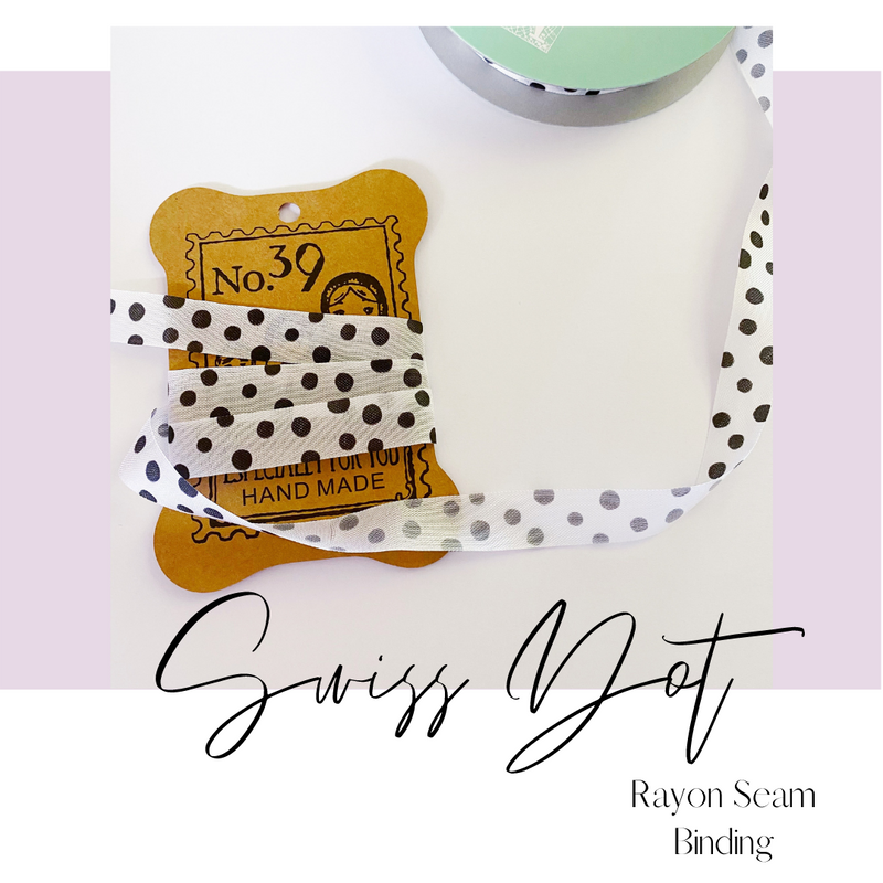 Ribbon by the Yard | Swiss Dot Rayon Seam Binding