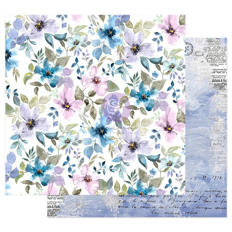 In the Water Garden   12 x 12 Patterned Paper   Prima-Watercolor Floral