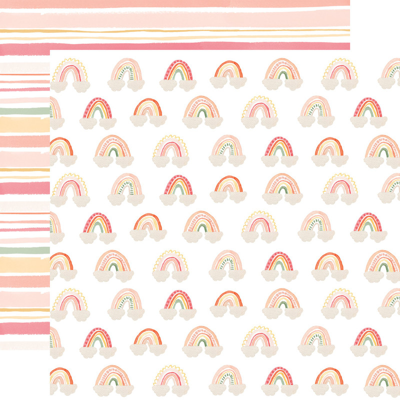 Welcome Baby Girl | 12 x 12 Patterned Paper | Echo Park Baby Girl