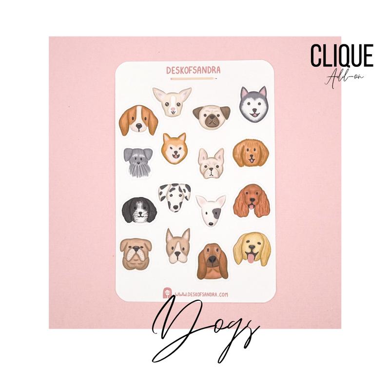 Planner Stickers |Dogs | Desk of Sandra