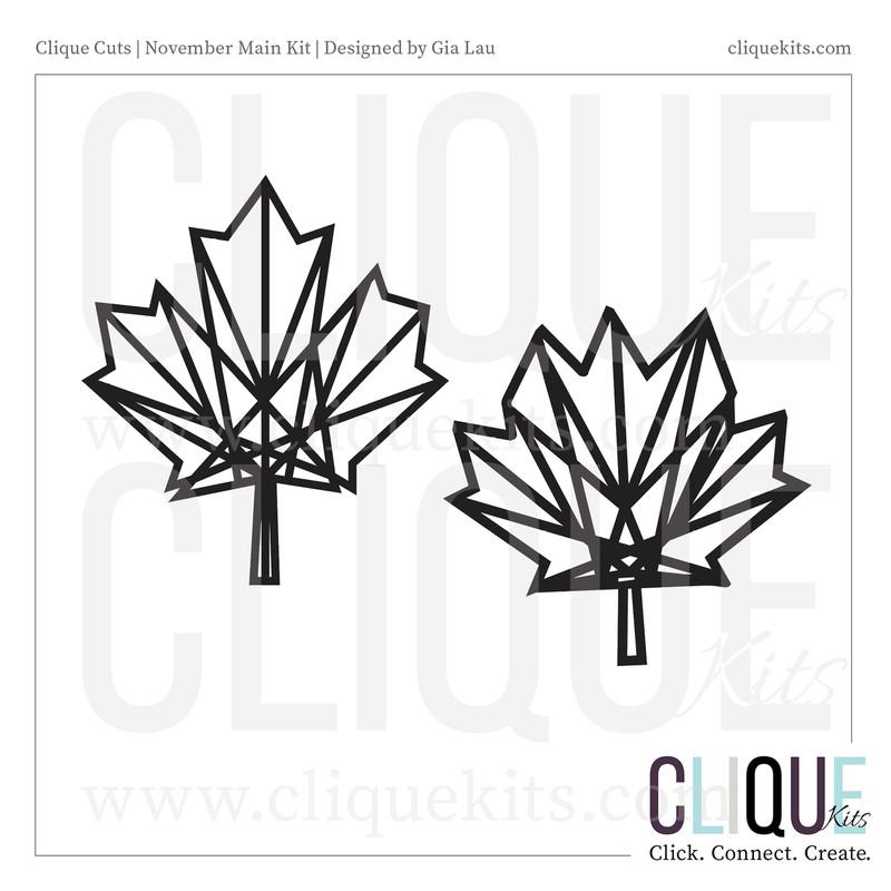 Geometric Maple Leaf | Digital Cut File