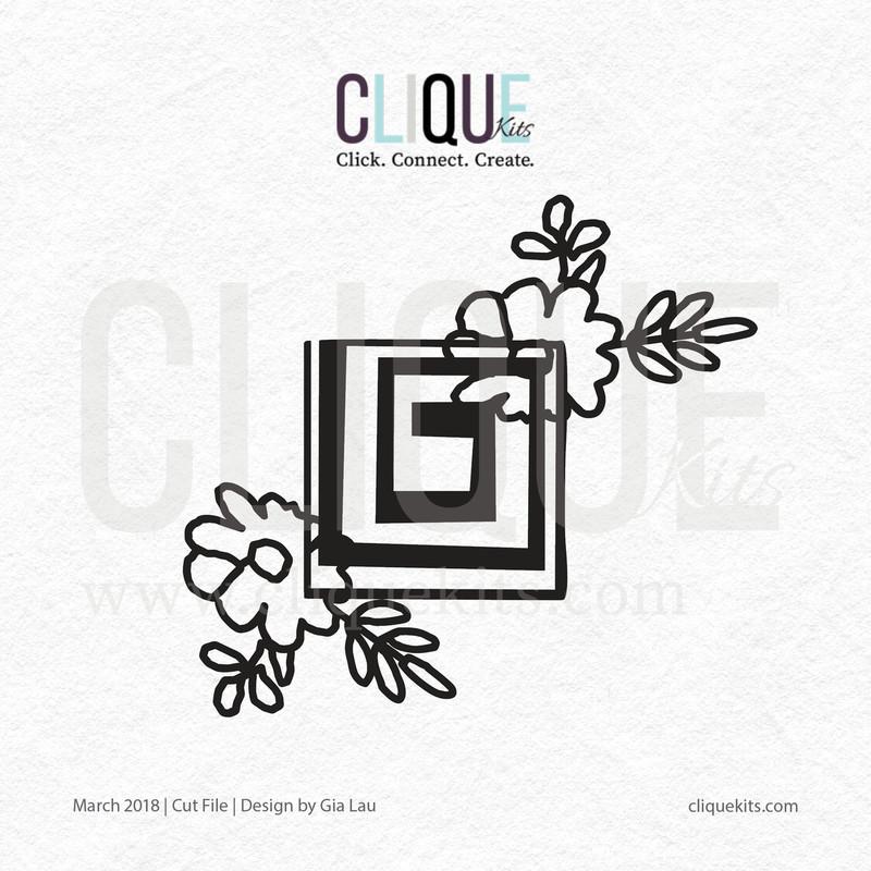 Flower Square  | Digital Cut File