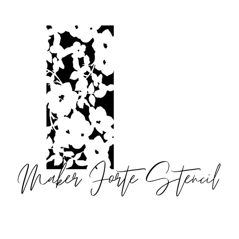 Floral Slimline Stencil | Maker Forte