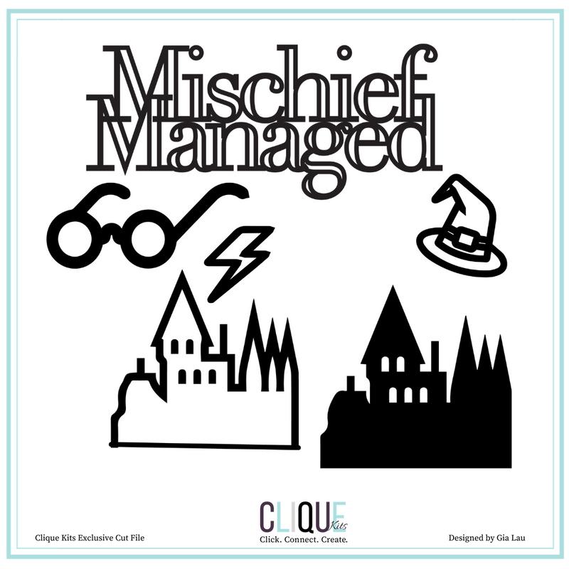 Digital Die Cuts   Mischief Managed   Clique Kits