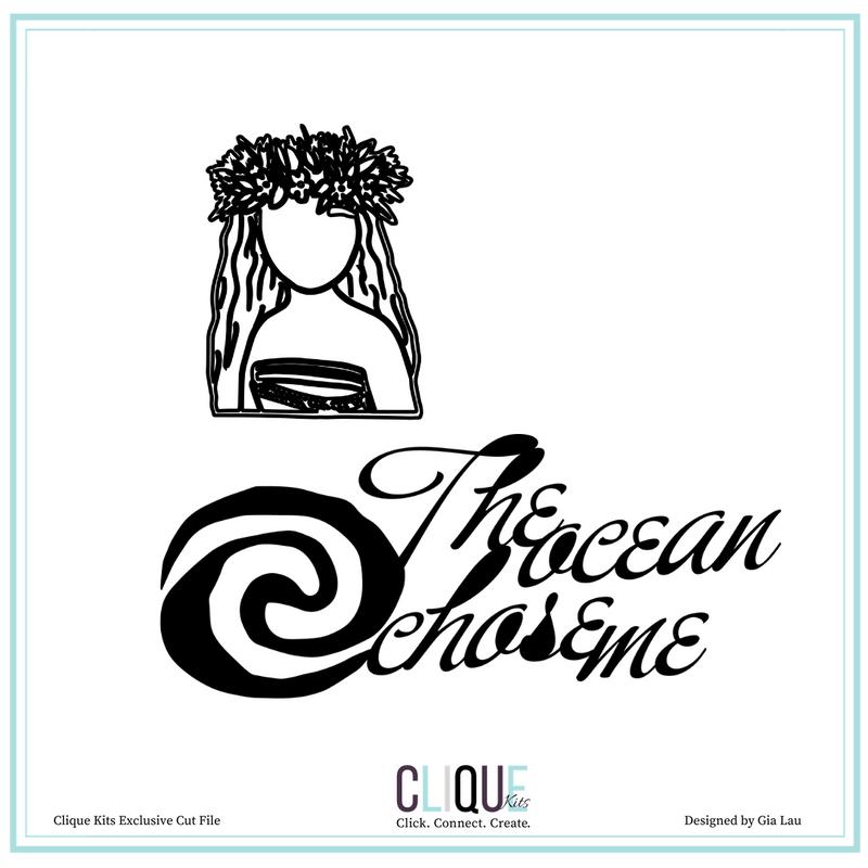 Digital Cut Files |The Ocean Chose Me | Clique Kits