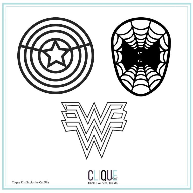 Digital Cut Files |Hero Emblems | Clique Kits