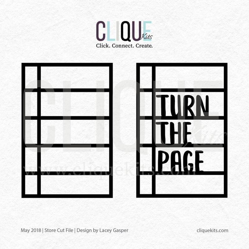 Turn the Page  | Digital Cut File