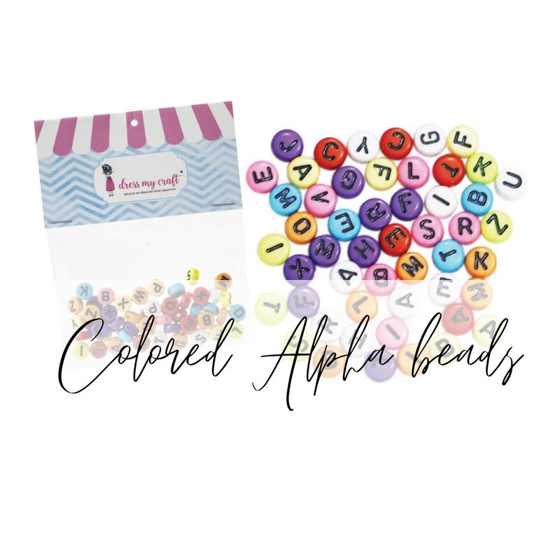 Colored Alphabet Beads   Dress My Craft