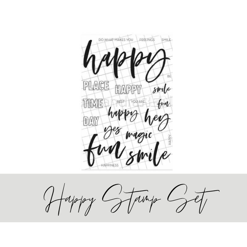 Happy Lettering Stamp Set | Alexandra Renke