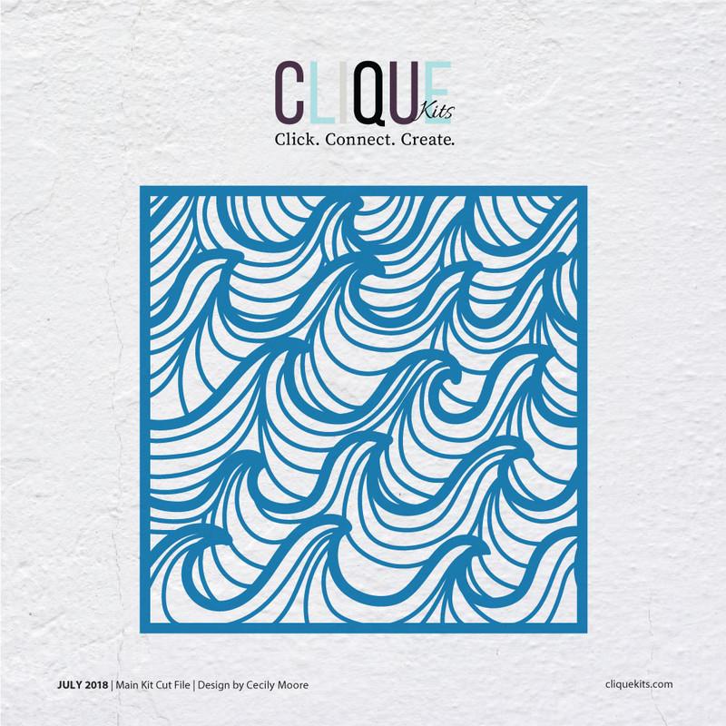 Ocean Waves  | Digital Cut File