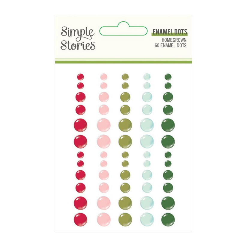 Enamel Dots   Holly Days   Simple Stories