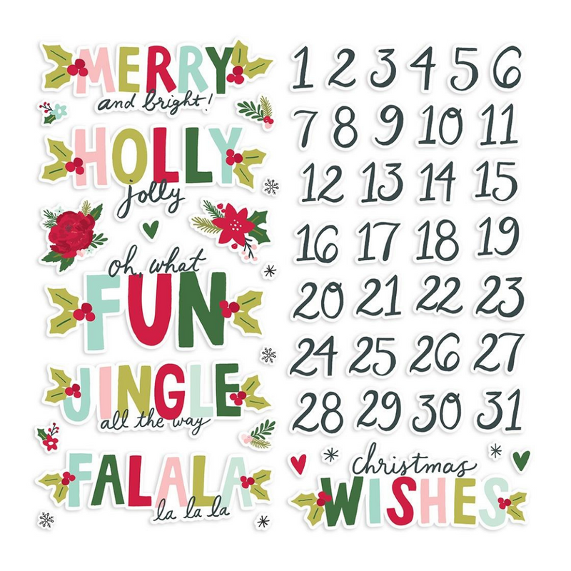 Foam Stickers | Holly Days | Simple Stories