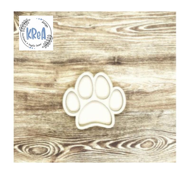 Large Wood Shaker Set  Paw print   Krea