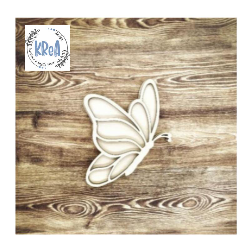 Large Wood Shaker Set  Butterfly  Krea