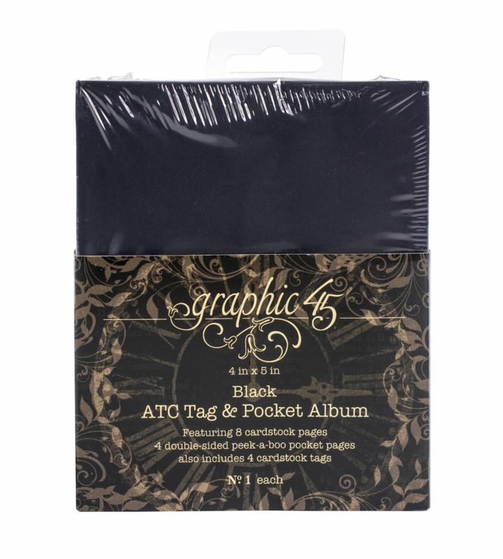 Black ATC Tag & Pocket Album   Graphic 45