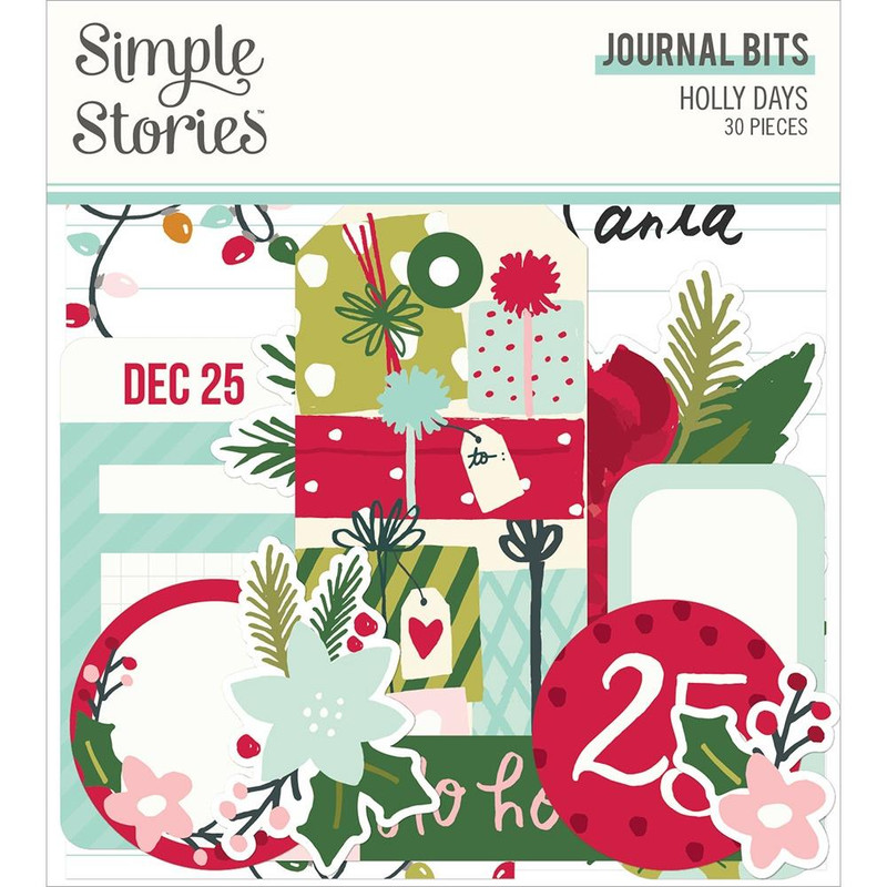 Journaling Bits & Pieces  | Holly Days | Simple Stories