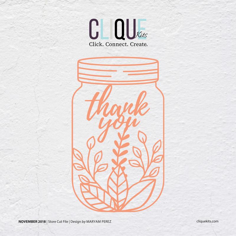 Thank You Jar  |  Cut File