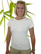 Women's Bamboo organic cotton tee shirt natural