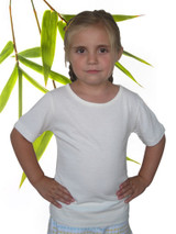 Bamboo and organic cotton short sleeved tee shirt natural