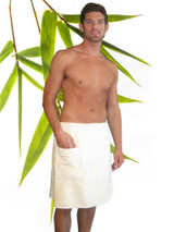 Men's Waist Wrap bamboo and organic cotton double sided loop terrycloth