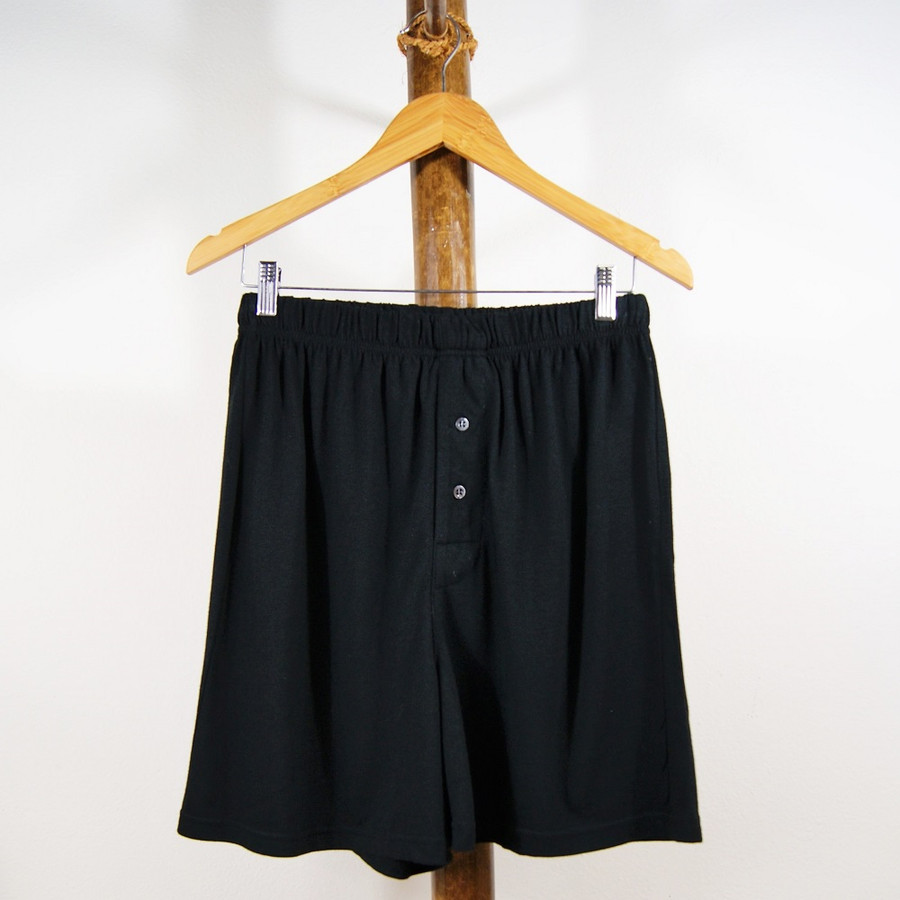 Mens Bamboo and Organic Cotton Boxers in Black