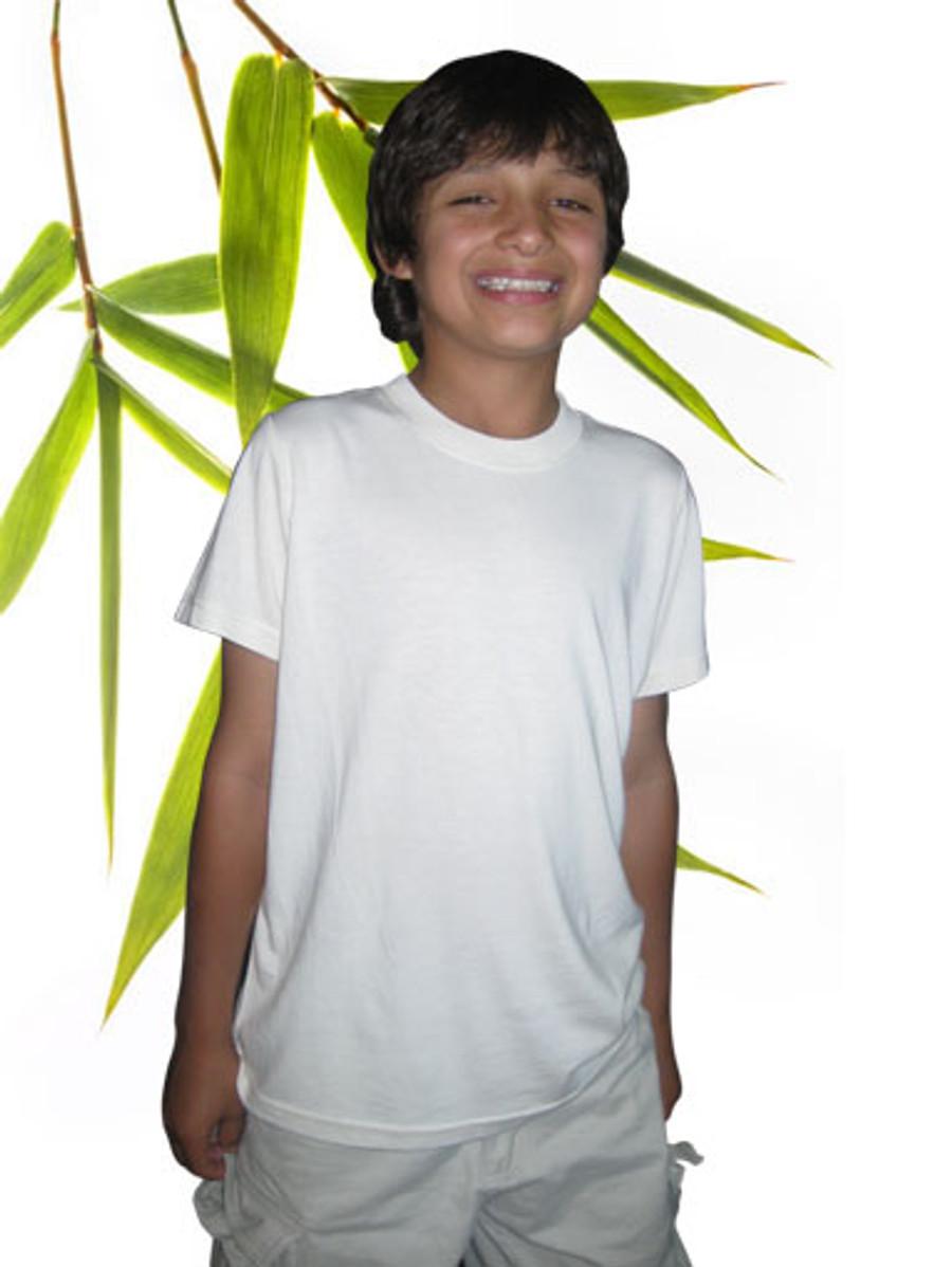 Boys Bamboo organic cotton short sleeved tee shirt