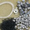 Garden Path Bracelet Kit - Slate and Silver