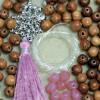 """Stretch Mala Kit - """"Pink Opal"""" & Bayong Wood"""
