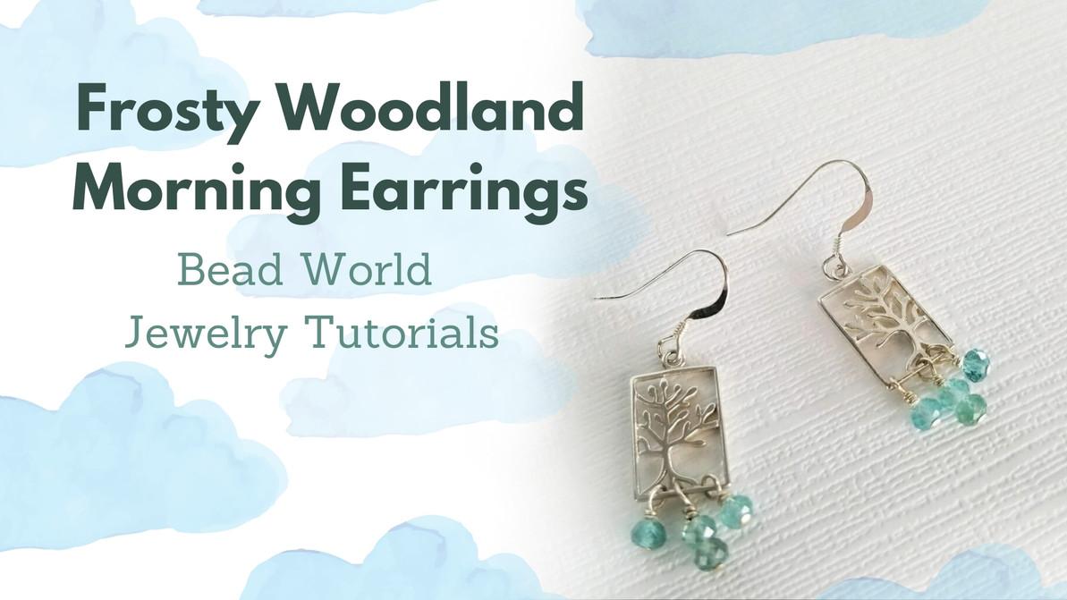 Frosty Woodland Morning Earrings
