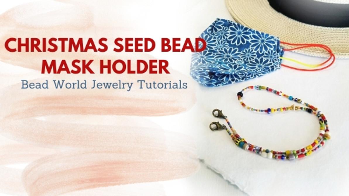 """""""Christmas Seed Bead"""" Mask Holder"""