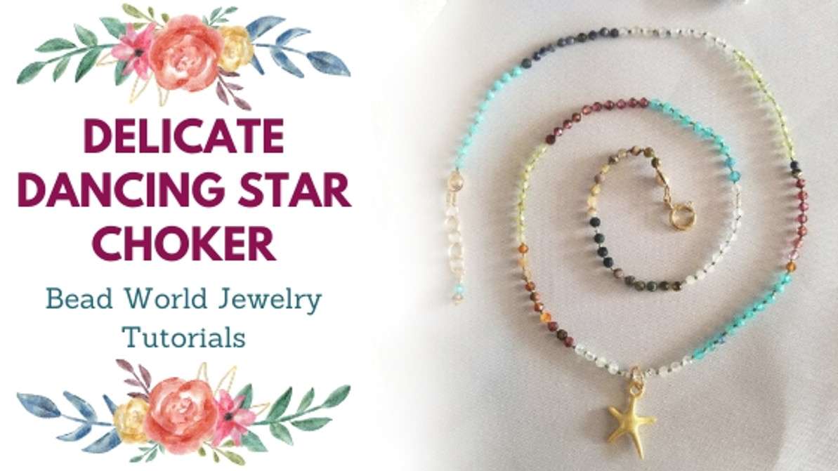 Delicate Dancing Star Knotted Gemstone Choker